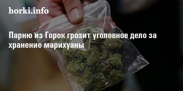 Какая статья за хранение марихуаны как обмануть тэст на марихуану